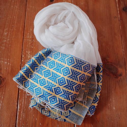 エチオピアの手織りスカーフ/ナタラ blue