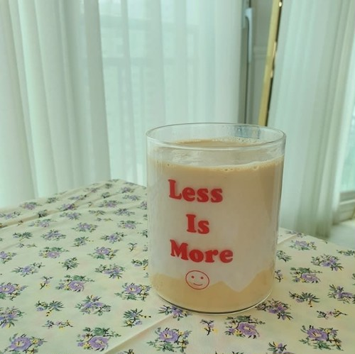 less is more glass cup / 韓国 コップ