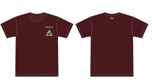 """""""Harmony & Speed 2 you""""pocket T-shirt バーガンディ"""