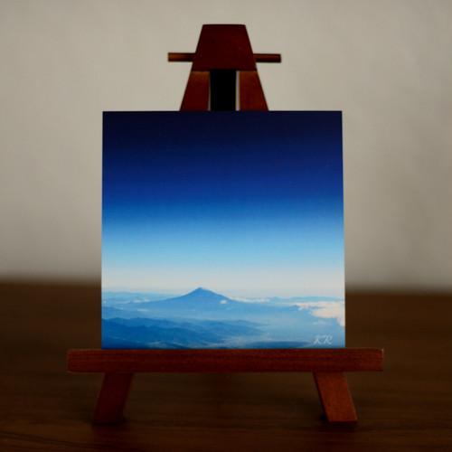 インテリア アートパネル◇瞬間(とき)を思ふ暮らし【富士山 Blue Moment II】風景 癒し ヒーリング