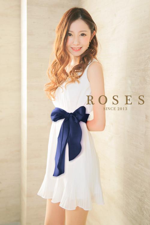 ROSES♪シフォンプリーツワンピースミニドレス♪インディゴ【r-252】