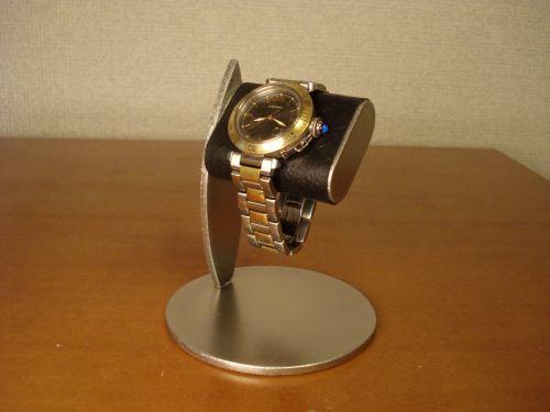 腕時計スタンド ブラックだ円パイプ1本掛け ak-design 受注製作 N11821