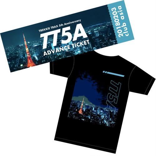 """[送料無料] TREKKIE TRAX 5th Anniversary in Toyko Advance Ticket + """"TT5A"""" T-Shirt"""