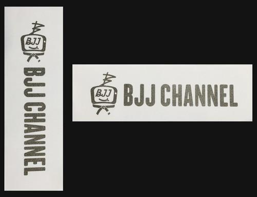 BJJ チャンネルパッチ 縦長&横長セット価格で200円お得 カラー白地にガンメタ