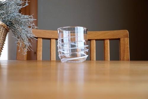 ガラス/銀の糸マーブルグラス(ミルク)空西あかね