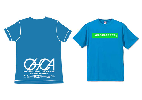 OHCAHOPPERS Tシャツ ターコイズブルー×グリーン 011(NEW)