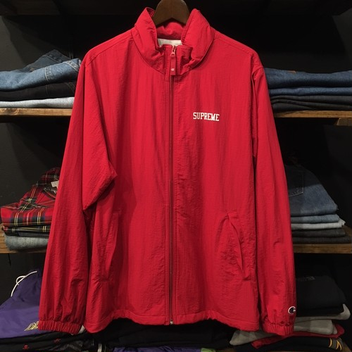 【SUPREME×CHAMPION】 -シュプリーム-SS18 TRACK JACKET DARK RED