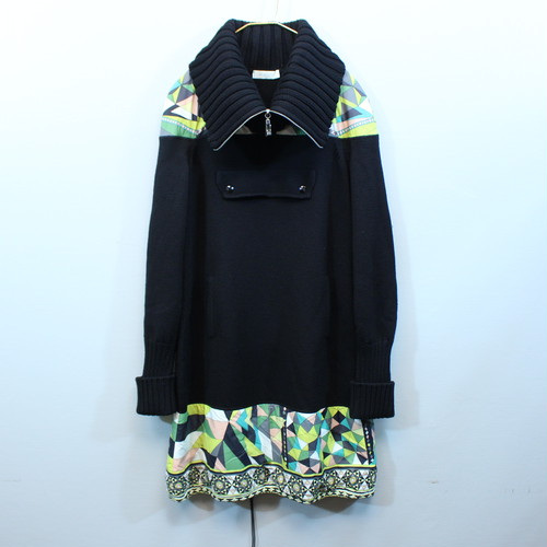 .EMILIO PUCCI PUCCI PATTERNED WOOL PULLOVER MADE IN ITALY/エミリオプッチプッチ柄ウールプルオーバー 2000000038285
