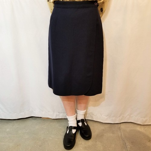 Burberrys  Reversible wrap‐around skirt /Made In England [1243]