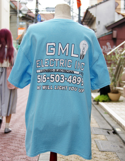 "【USED】 T-shirt ""GML ELECTRIC"" Mens/L-size"
