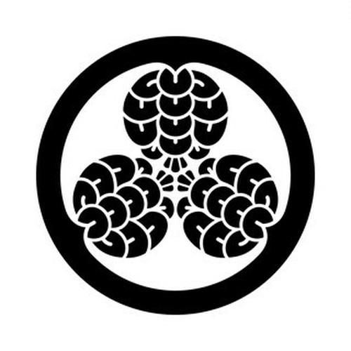 丸に三つ松笠 aiデータ