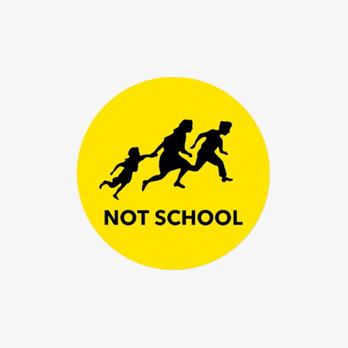 NOTSCHOOL STICKER〈Circle〉