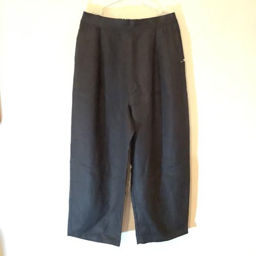 リネン パンツ ブラックシンプル 〜 KAORU さんの ハンドメイド オリジナル フリーサイズ