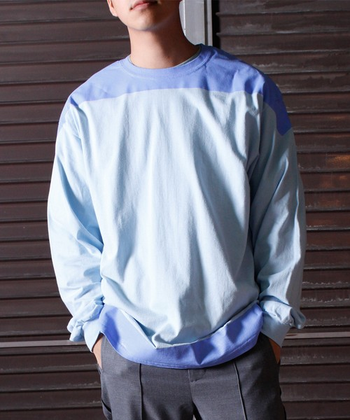Product Print LS Tee -L.blue <LSD-BJ3T9>
