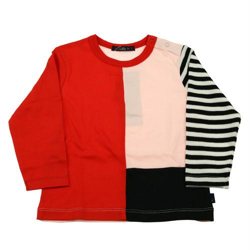 Caldia (カルディア) カラーブロックTシャツ   A56800