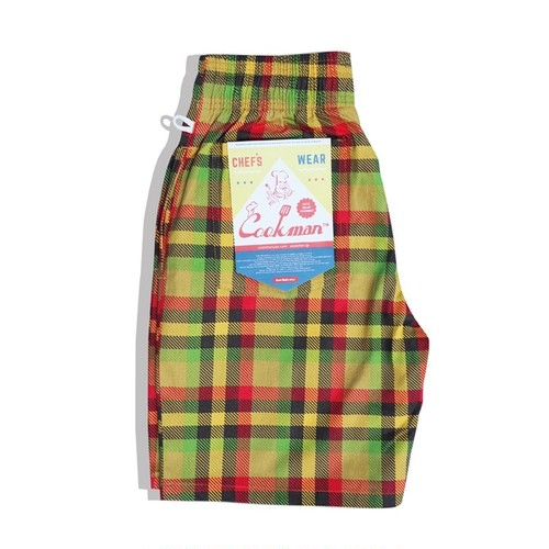 COOKMAN CHEF SHORT PANTS「BURGER CHECK」/ MULTI