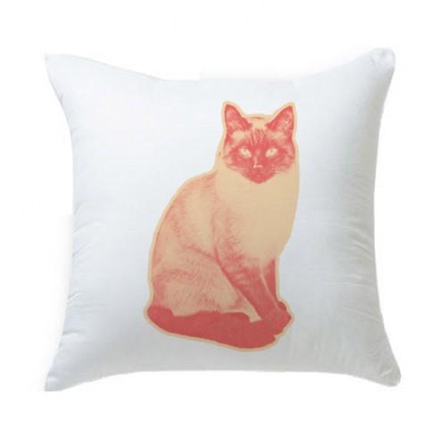 キャンディポップアート猫クッション【Pop cat 睨む猫】