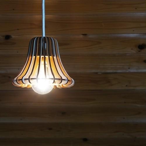 「ディナーベル」木製ペンダントライト(オーク)