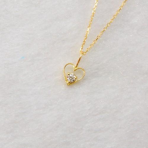 ダイヤモンドネックレス/K18YG/チェーン付