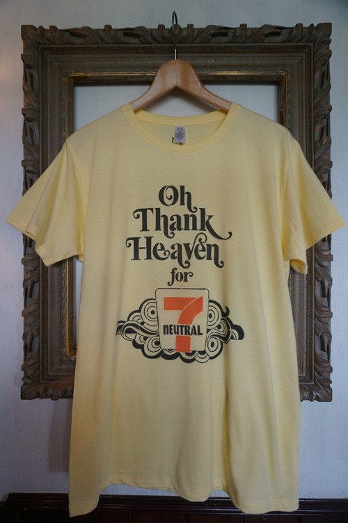 "STENCIL-TEE ""THE 7TH ANNIVERSARY【7th-11 / LIGHT YELLOW】"
