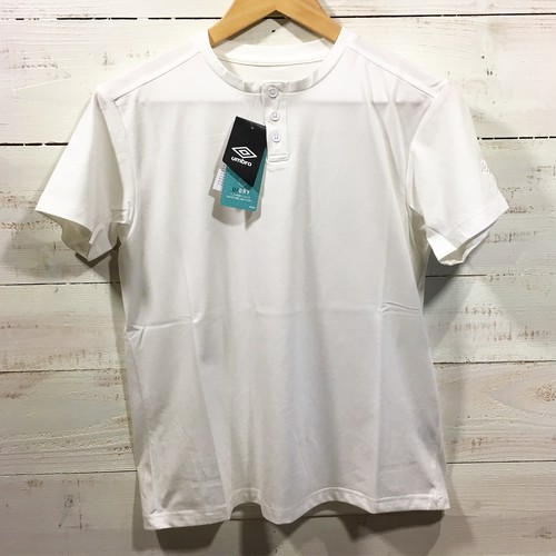 umbro Locker Room Limited Stretch S/S Henley WHITE