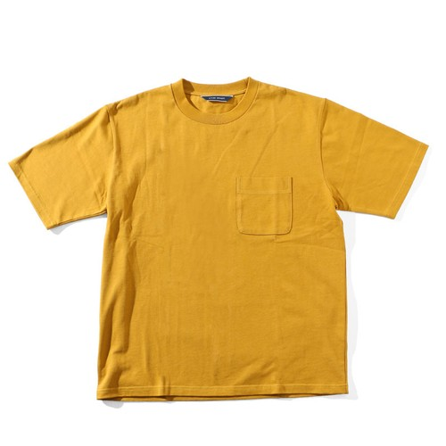 LIVING CONCEPT BASIC POCKET T-SHIRT [ MUSTARD ]