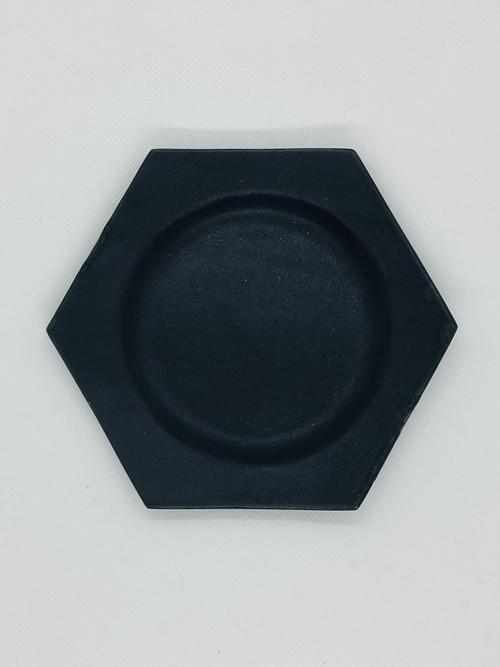 野上薫 paperシリーズ六角小皿(black)