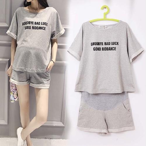 マタニティ セットアップ Tシャツ ショートパンツ カジュアル M~3XL