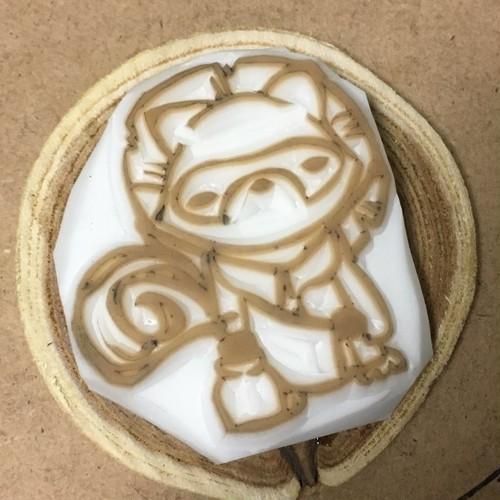 【菊扇華】T4おきもの狸ハンコ
