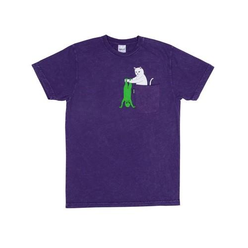 RIPNDIP - Break Yo Self Pocket Tee (Purple Mineral Wash)