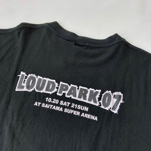 2000~ Dickies ディッキーズ LOUD PARK ラウドパーク 07 Tシャツ XLサイズ 黒 ロックT バンドT