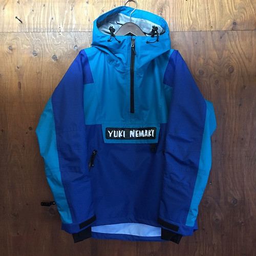 "YUKI NEMAKI JACKET "" Royal Blue × Turquoise "" size M"