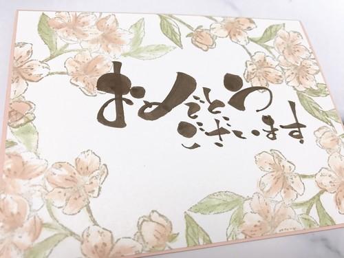 お祝い(桜)