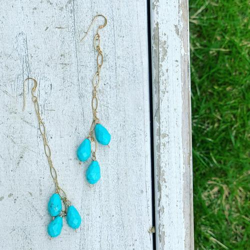 Turquoise 14KGF Earrings