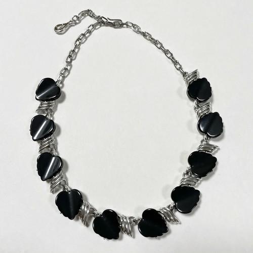 Vintage Lucite Heart Choker Necklace