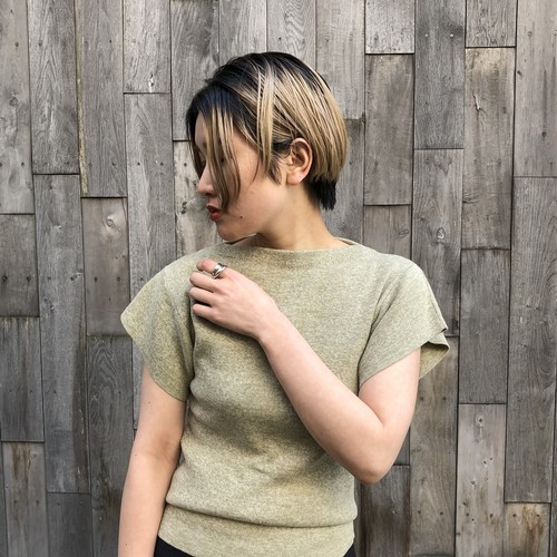 【20SS】CLANE クラネ / COMPACT T-LINE KNIT (MOSS GREEN)