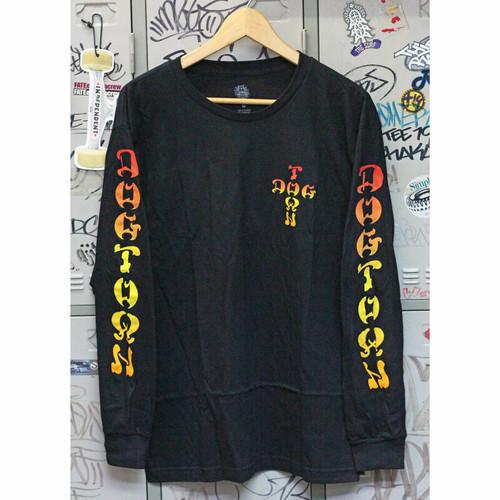 【ドッグタウン】クロスロゴフェードロングスリーブTシャツ ブラック