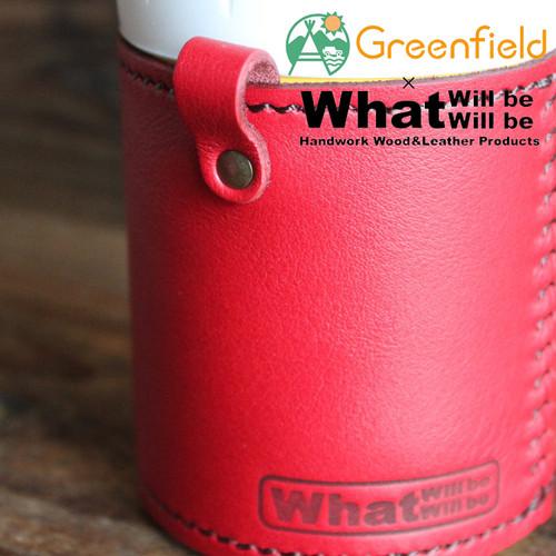 What will be will be & Greenfield サーモス THERMOS 保冷缶 ホルダー レザー カバー 350ml  ハンドメイド レザー 本皮 アウトドア wb0053
