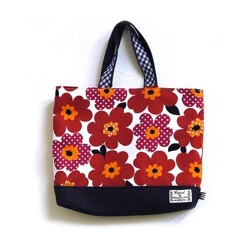【POTEKO HOUSE】お花×デニムバッグ/バッグ