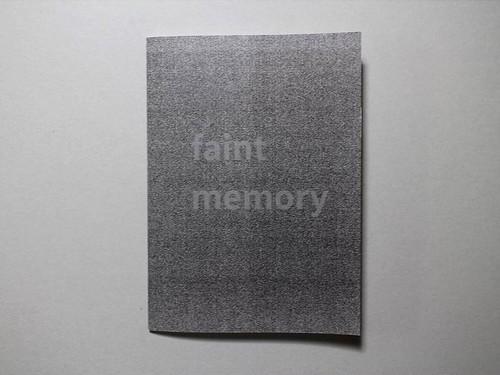【ZINE】faint memory /佐藤鮎生