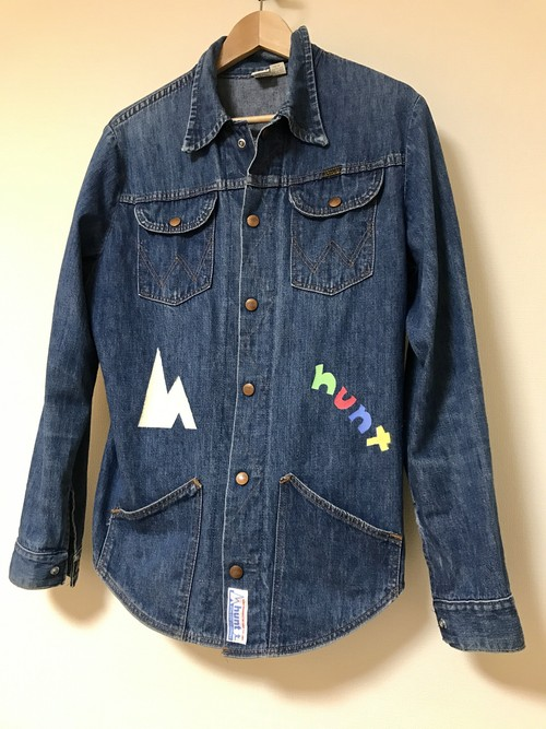 1mh-03 『one more hunt』 /used denim shirt