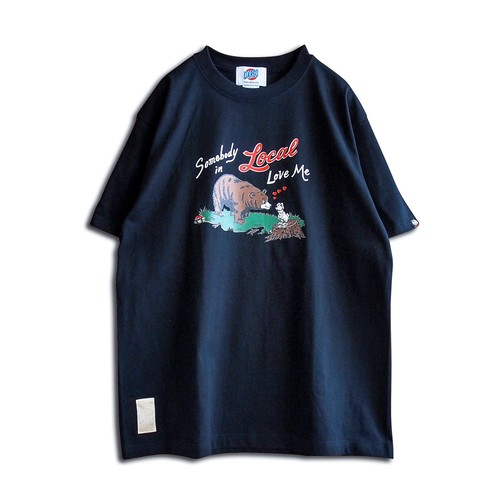 """【DARGO】""""SOMEBODY IN LOCAL LOVE ME"""" T-shirt(BLACK)"""