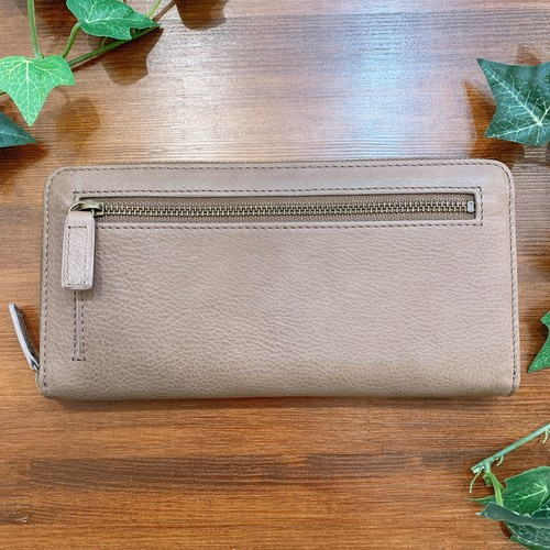 【牛革】シンプルラウンド型長財布〈4色展開〉 本革 レザーウォレット 長財布 シンプル 軽い W8235