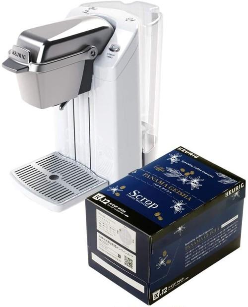 KEURIG キューリグ抽出機 BS300 セラミックホワイト + K-Cup Scrop パナマゲイシャ 9.5g×12