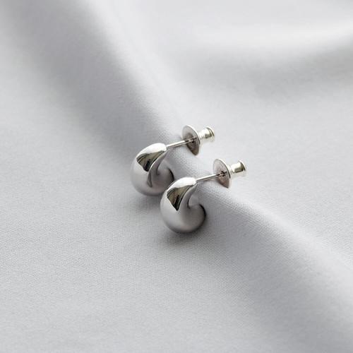 P201 / Soft hoop pierce - silver (pair)