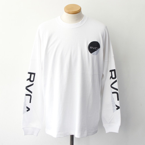 【RVCA】FRACTION LS TEE (WHITE)