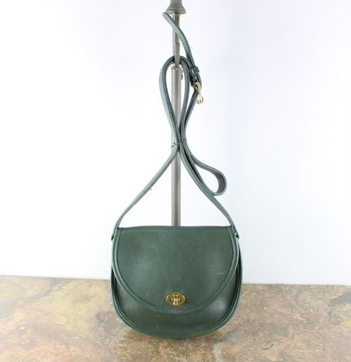 .OLD COACH TURN LOCK LEATHER SHOULDER BAG MADE IN USA/オールドコーチターンロックレザーショルダーバッグ 2000000037882