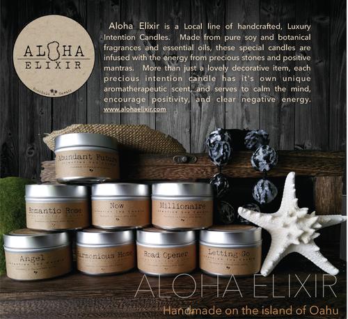 Aloha Elixir 願いが叶うキャンドル(パワーストーン入り)