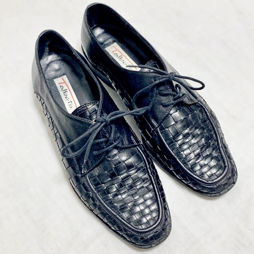 Vintage Mesh Leather Shoes Made In Italy