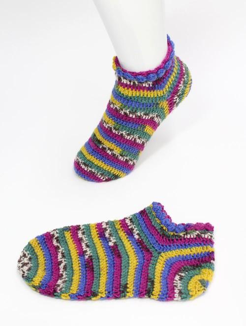 手編みのルームシューズ